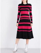 Proenza Schouler Striped Knitted Wool-blend Dress