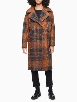 Calvin Klein Sherpa Notch Lapel Coat