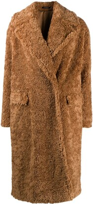Tagliatore Double Breasted Teddy Coat