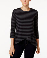 Calvin Klein Striped High-Low Hem Top