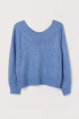 H&M H&M+ Off-the-shoulder Sweater - Blue
