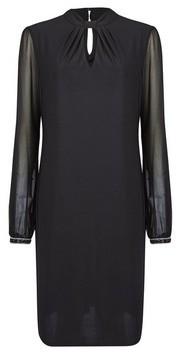 Dorothy Perkins Womens **Billie & Blossom Tall Black Twist Neck Shift Dress, Black