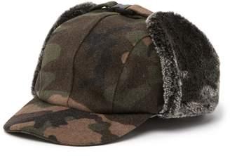Public Opinion Camo Faux Fur Detail Trapper Hat