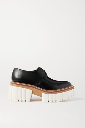 Stella McCartney Emilie Vegetarian Leather Platform Brogues - Black