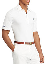 Polo Ralph Lauren Solid Lisle Short-Sleeve Knit Polo Shirt