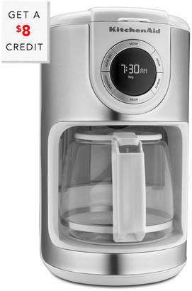 KitchenAid 12-Cup Glass Carafe Coffeemaker - Kcm1202wh With $8 Credit