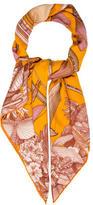 Hermes Tous Les Bateaux Cashmere Silk Shawl
