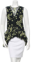 Marni Sleeveless Floral Print Top