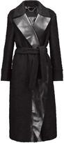 Belstaff Hayton leather-trimmed wool-blend coat