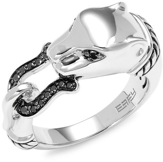 Effy Sterling Silver Diamond Panther Ring