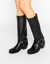 Frye Harness 15r Leather Knee High Boots