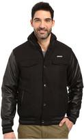 English Laundry Wool Jacket w/ PU Sleeves