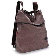 UP TOP Multifunctional Canvas Backpack Travel Shoulder Bag Vintage Bookbag