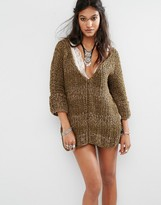 Free People Georgia V Neck Knitted Sweater
