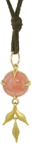 Cathy Waterman Angel Skin Coral Wheat Charm Necklace