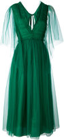 Rochas ruched tie-back dress - women - Silk/Polyamide - 42