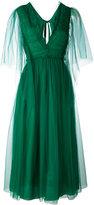 Rochas ruched tie-back dress - women - Silk/Polyamide - 44