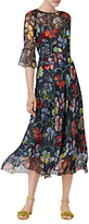 LK Bennett L.K.Bennett Phia Soft Floral Print Silk Dress, Multi