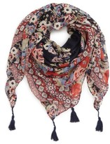 David & Young Women's Tassel Floral Scarf