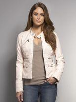 New York & Co. Faux Leather Stitch Detailed Moto Jacket