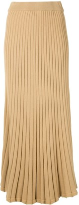 Lulu ribbed midi skirt