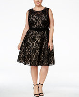 Xscape Evenings Plus Size Lace Fit & Flare Dress