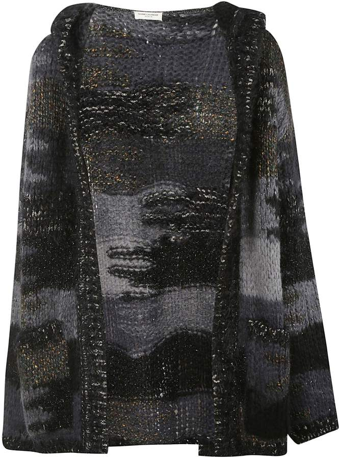 Saint Laurent Camo Knit Cardigan