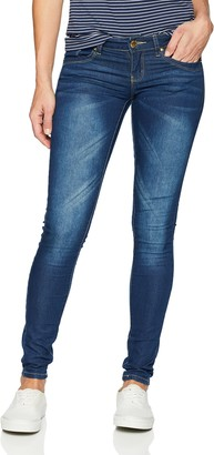 V.I.P. JEANS Low Waist Butt Lifter Skinny Slim fit Stretchy Jeans for Women Junior Size 9 Dark Blue wash