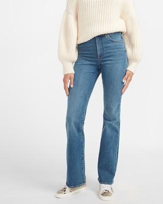 Express High Waisted Medium Wash Bootcut Jeans
