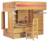 Powell Company Wyatt Kids Bunk Bed Brown (Twin over Twin)