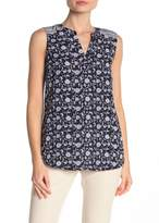 Adrianna Papell Floral Mix Print Sleeveless Blouse