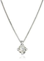 Forzieri 0.23 ctw Diamond Flower Pendant 18K White Gold Necklace