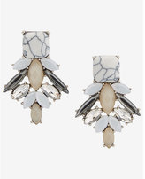 Express stone cluster earrings