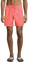 Sundek Lighting Printed Drawstring Board Shorts