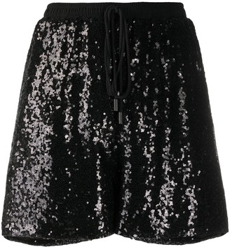 Alchemy Sequinned Straight-Leg Shorts