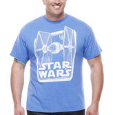 JCPenney Novelty T-Shirts Star Wars TIE Fighter Short-Sleeve Graphic Tee - Big & Tall