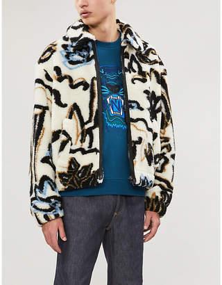 Kenzo Metallic tiger-embroidered cotton-jersey sweatshirt
