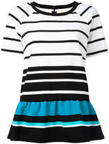 MICHAEL Michael Kors striped flared hem T-shirt