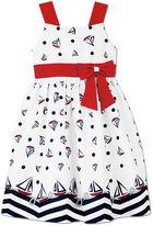 Jayne Copeland Girls' Sailboat-Print Dress