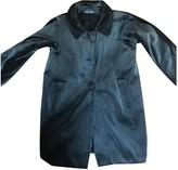 Alberto Biani Grey Velvet Coat for Women