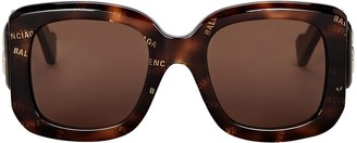 Balenciaga Oversized Square Logo Sunglasses
