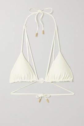 Cult Gaia Sloane Embellished Triangle Bikini Top - Cream