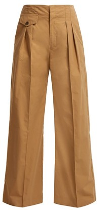 Sea Lennox High-rise Wide-leg Trousers - Womens - Sand