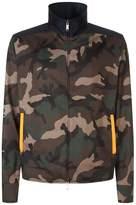 Valentino Camouflage Printed Zip-up Jacket