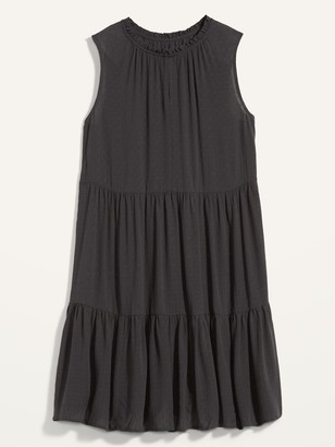 Old Navy Sleeveless Textured Dobby Tiered Swing Dress for Women