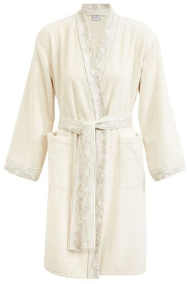 Yves Delorme Bel Ami Ivoire Cotton Robe (Small)