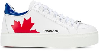 DSQUARED2 Logo Detail Low-Top Flatform Sneakers