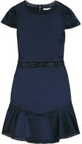 Alice + Olivia Rapunzel Ruffled Lace-trimmed Stretch-cotton Mini Dress