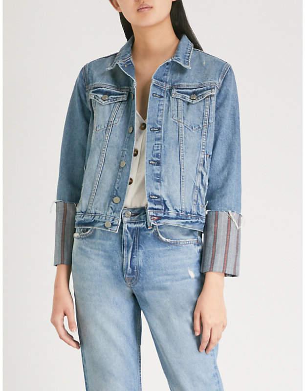 GRLFRND Bianca cotton-denim jacket