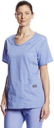 Cherokee Women's Workwear Scrubs V-Neck Embroidered Top